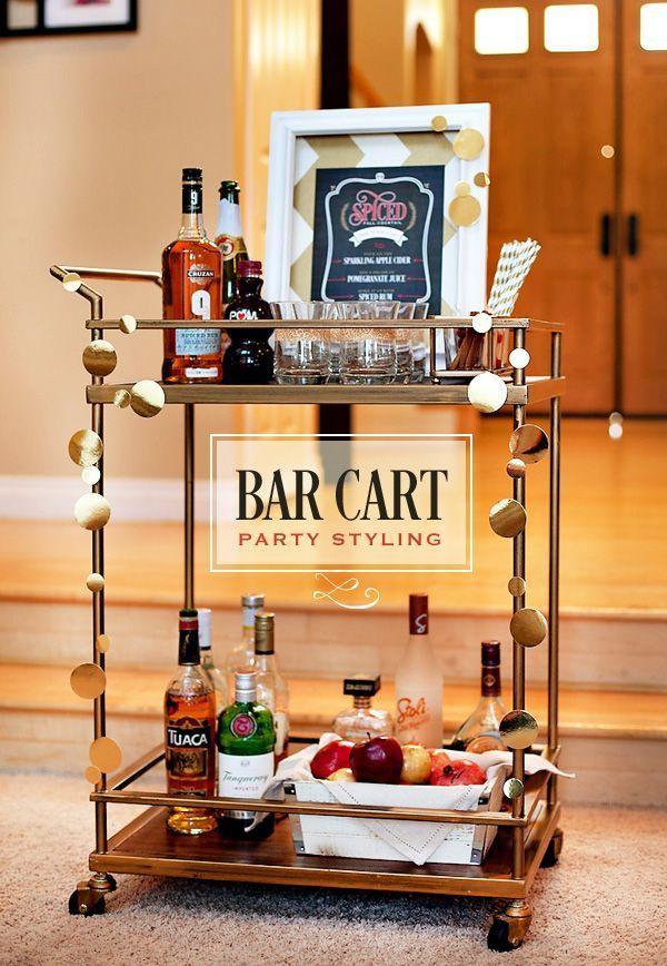 carrito de bebidas bonito cena